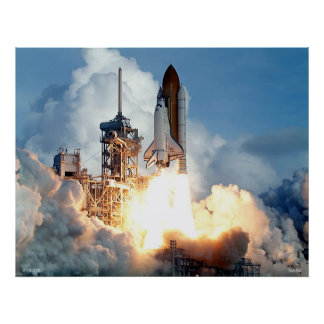 Launch of Space Shuttle STS-106 Poster