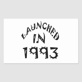 Launched In 1993 Rectangle Sticker