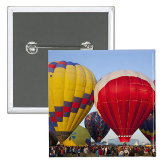 Launching hot air balloons 2 15 cm square badge