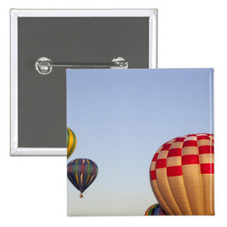 Launching hot air balloons 3 15 cm square badge
