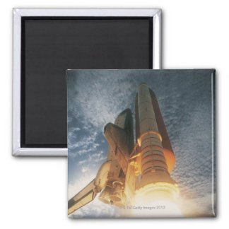 Launching Space Shuttle Square Magnet