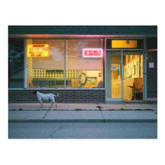 Laundromat Open Postcard