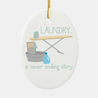 Laundry A Never Ending Story Ceramic Ornament