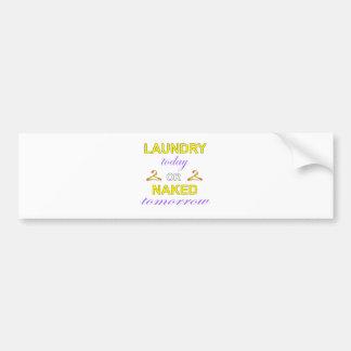 Laundry Bumper Sticker