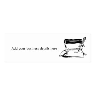 Laundry Ironing Service Skinny Business Cards Business Card