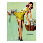 Laundry Pinup Post Card