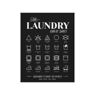 Laundry Room Cheat Sheet Canvas Print