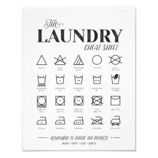 Laundry Room Cheat Sheet Photo Print