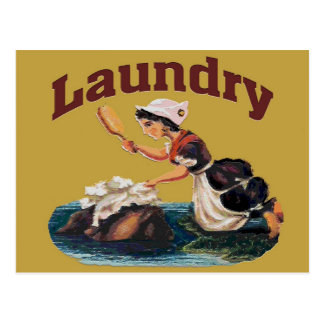 Laundry Room Sign Postcard