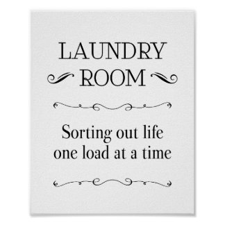 Laundry Room Sorting Life One Load At A Time Poster