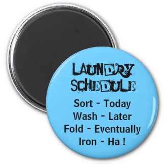 Laundry Schedule Magnet