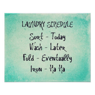 Laundry Schedule Print