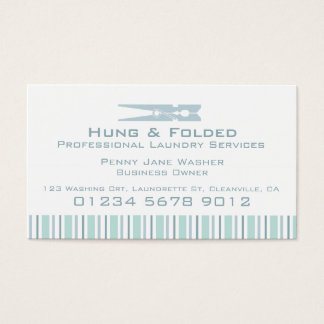 Laundry service mint swing tag / business card