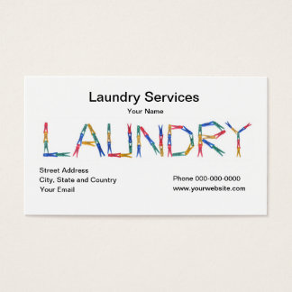 Laundry Services Business Card