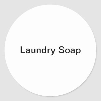Laundry Soap Stickers