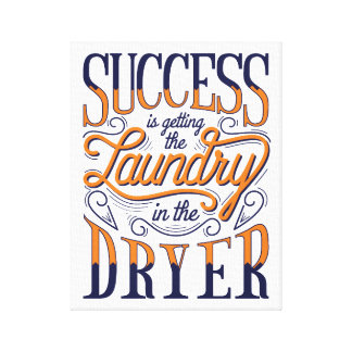 Laundry Success Canvas Print