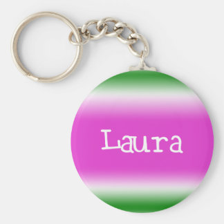 Laura Basic Round Button Key Ring