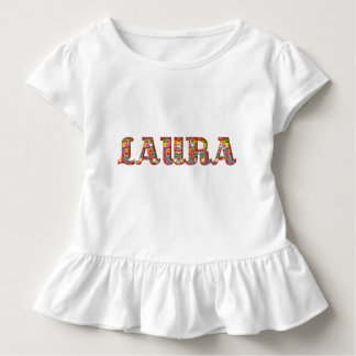 Laura Cute Love Hearts Romantic Typography Girl Toddler T-Shirt