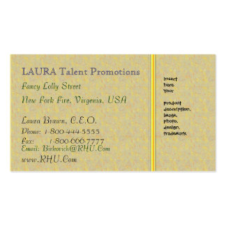 LAURA Gold Sparkle Pattern Pack Of Standard Business Cards
