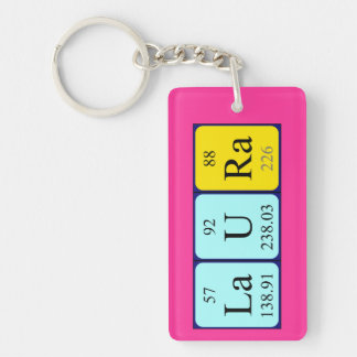 Laura periodic table name keyring