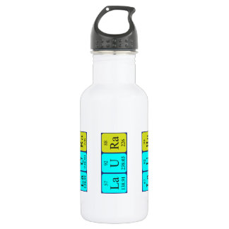 Laura periodic table name water bottle 532 ml water bottle