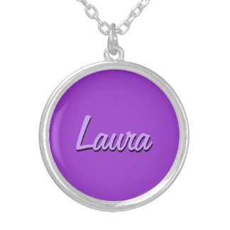 Laura style round pendant necklace