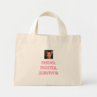 laura with flower in hair, FRIEND, FIGHTER, SUR... Canvas Bags