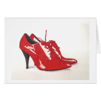 Laura's Red Shoes - Blank Card