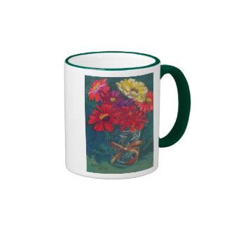 """Laura's Zinnias"" Ringer Mug"