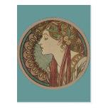 Laurel by Alphonse Mucha Postcard