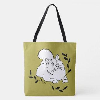 Laurel Cat Tote Bag