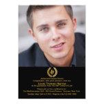Laurel Crown Photo Graduation Invitation