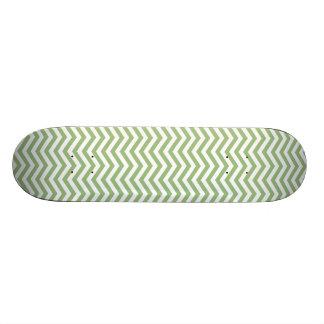 Laurel Green Chevron Stripes Skateboard