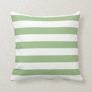Laurel Green Horizontal Stripes Cushion