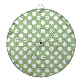 Laurel Green Polka Dots Dartboards