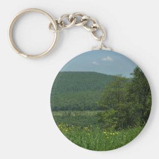 Laurel Highlands Pennsylvania Summer Photography Basic Round Button Key Ring