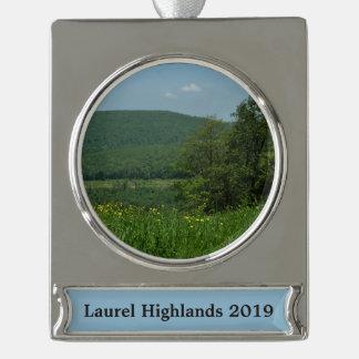 Laurel Highlands Pennsylvania Summer Photography Silver Plated Banner Ornament