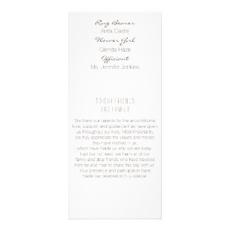 Laurel Leaf Gold Wedding Program Rack Card
