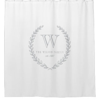 Laurel Monogram Shower Curtain