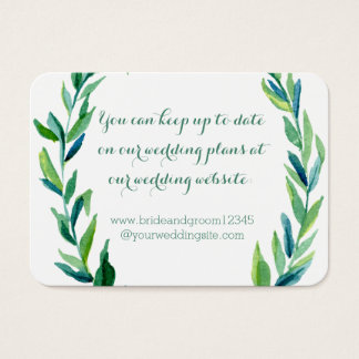 Laurel Olive Leaf Wreath Wedding Website Cards