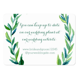 Laurel Olive Leaf Wreath Wedding Website Cards Pack Of Chubby Business Cards