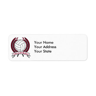 laurel volleyball emblem design return address label