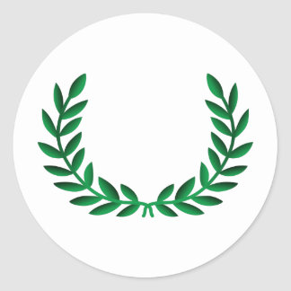 LAUREL WREATH CLASSIC ROUND STICKER