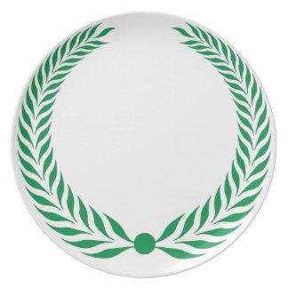 Laurel Wreath - Green Dinner Plates