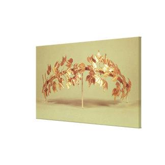 Laurel wreath, Mycenae Stretched Canvas Print