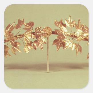 Laurel wreath, Mycenae Square Sticker