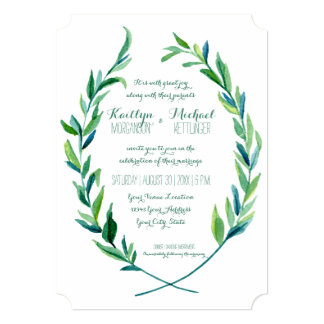 Laurel Wreath Olive Leaf Branch Modern Simple Card
