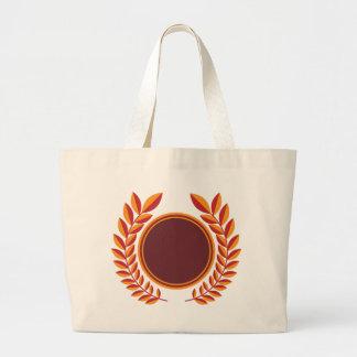 Laurel Wreath Shield Jumbo Tote Bag
