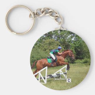 Lauren Basic Round Button Key Ring
