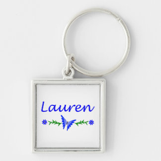 Lauren Blue Butterfly Key Chain